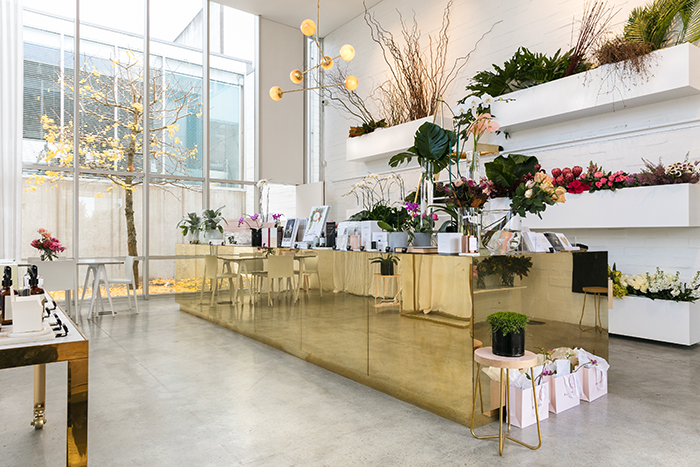 Blush parnell maison lalopa for Designs east florist interior